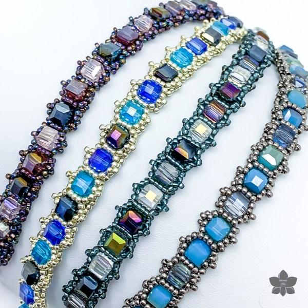 crystal cube tennis bracelet beading pattern