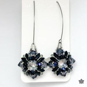 beach dunes earrings black