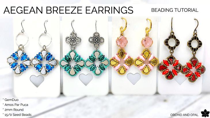 Aegean Breeze Beaded Earrings Tutorial