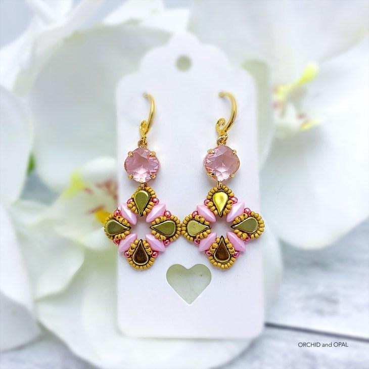 Aegean Breeze Earrings pink