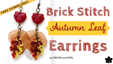 Brick Stitch Autumn Leaves Earrings (2)
