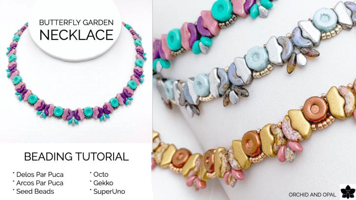 Butterfly Garden Beaded Necklace Tutorial