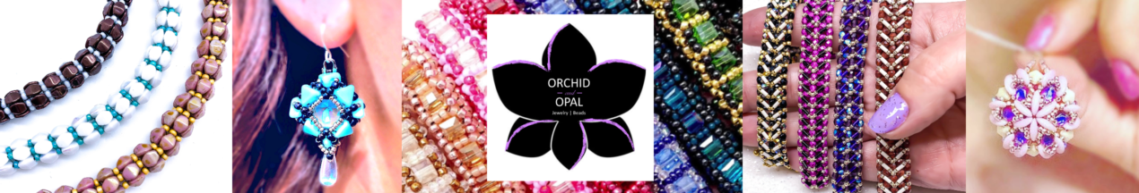 orchid and opal jewelry and beads