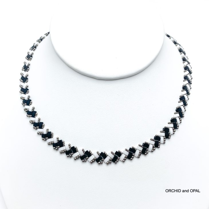 half tila herringbone necklace