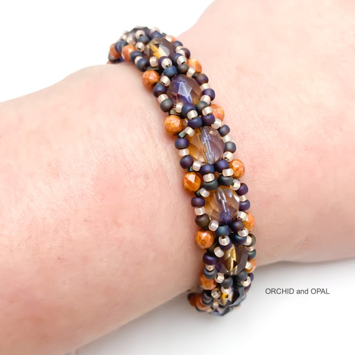 barrier reef bracelet peach and purple