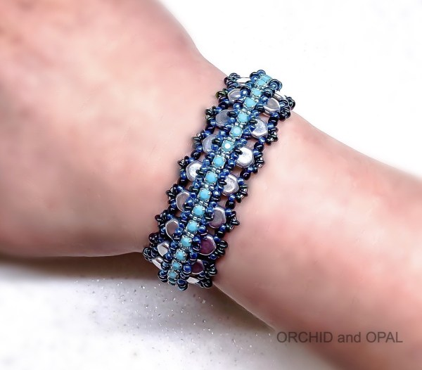 glacier lagoon bracelet blue silver