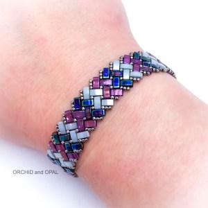 half tila herringbone bracelet tutorial