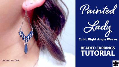painted lady earrings tutorial