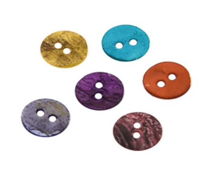 144 Pcs Random Mixed Color Mother of Pearl Buttons