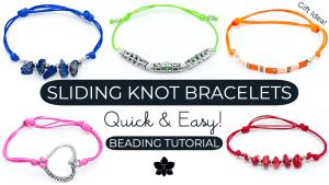 How to Make a Sliding Knot Bracelet Tutorial | Quick & Easy!