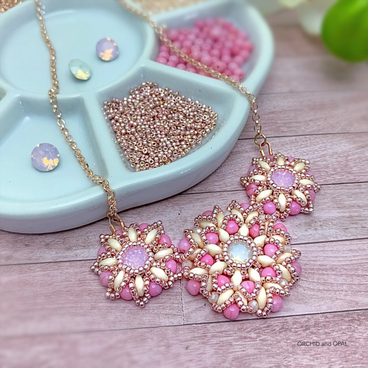 Spring Blossoms Necklace_Orchid and Opal_1