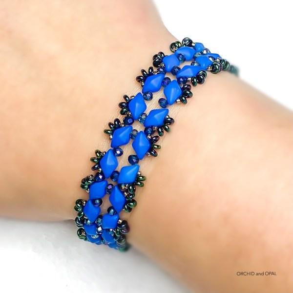 starlight gemduo beaded bracelet tutorial