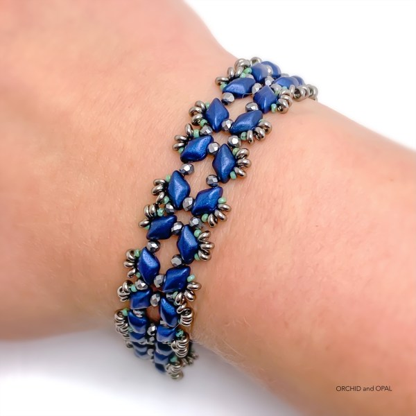 Starlight GemDuo Bracelet - Navy