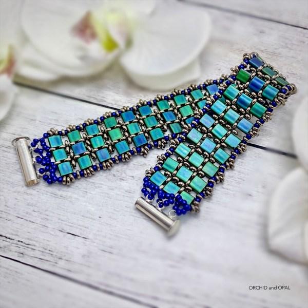 Twilight Tila Bead DIY Beaded Bracelet Tutorial