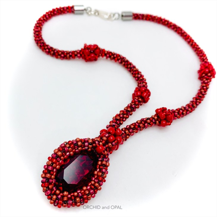 swarovski oval pendant necklace