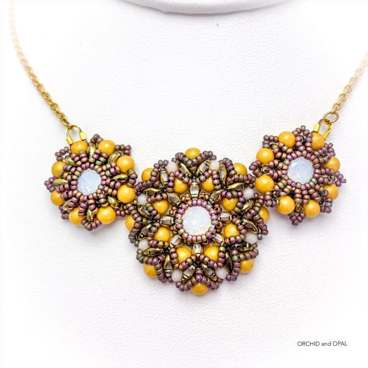 spring blossoms pendant necklace yellow