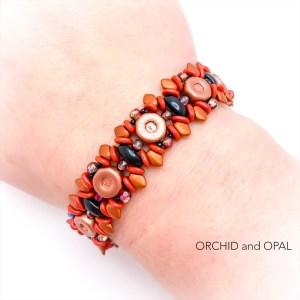copper black briar rose bracelet