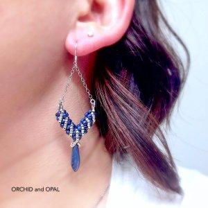painted lady earrings CRAW tutorial