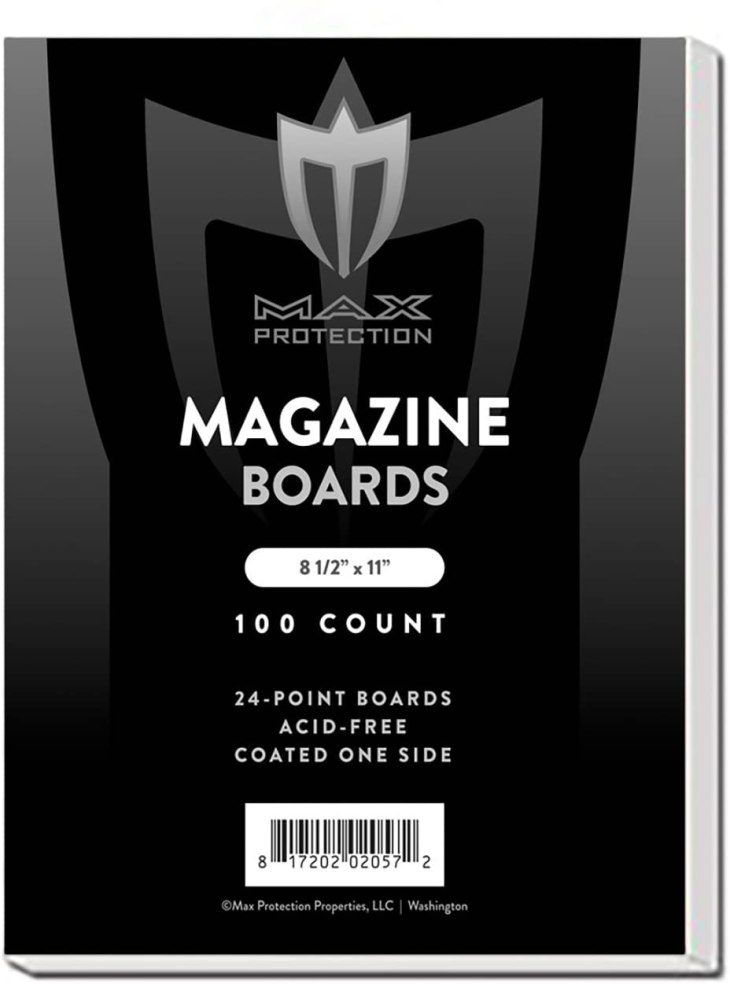 magazine boards white 8.5x11