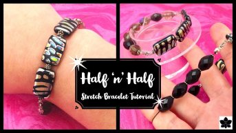 how to make a half stretch bracelet