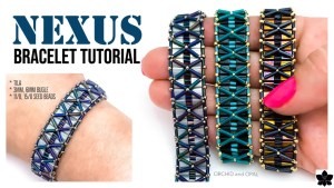 DIY Beaded Bracelet Pattern, Tutorial   NEXUS   TILA, BUGLE