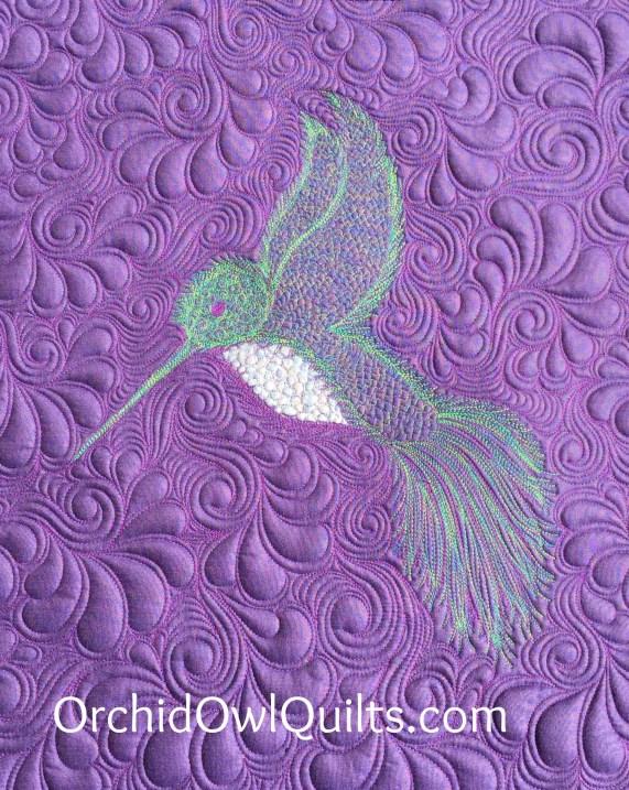 Hummingbird mini quilt