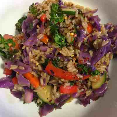 Veggie Brown Rice Stir Fry