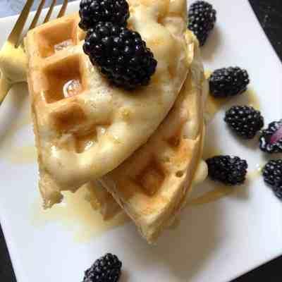 Fluffy Cinnamon Vegan Belgian Waffles