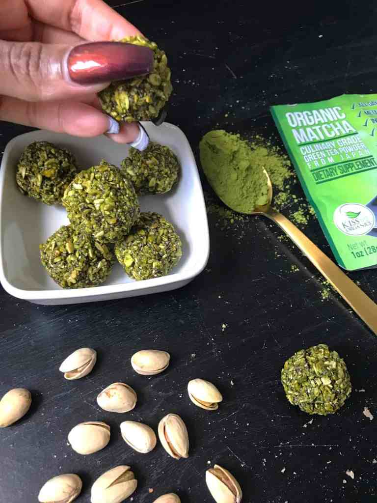 No- Bake Matcha Green Tea Energy Bites