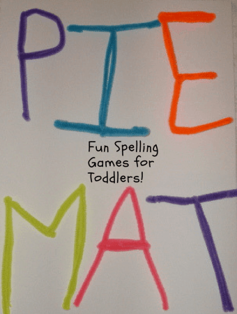 Fun Toddler Spelling Game: Pipe Cleaner Letters