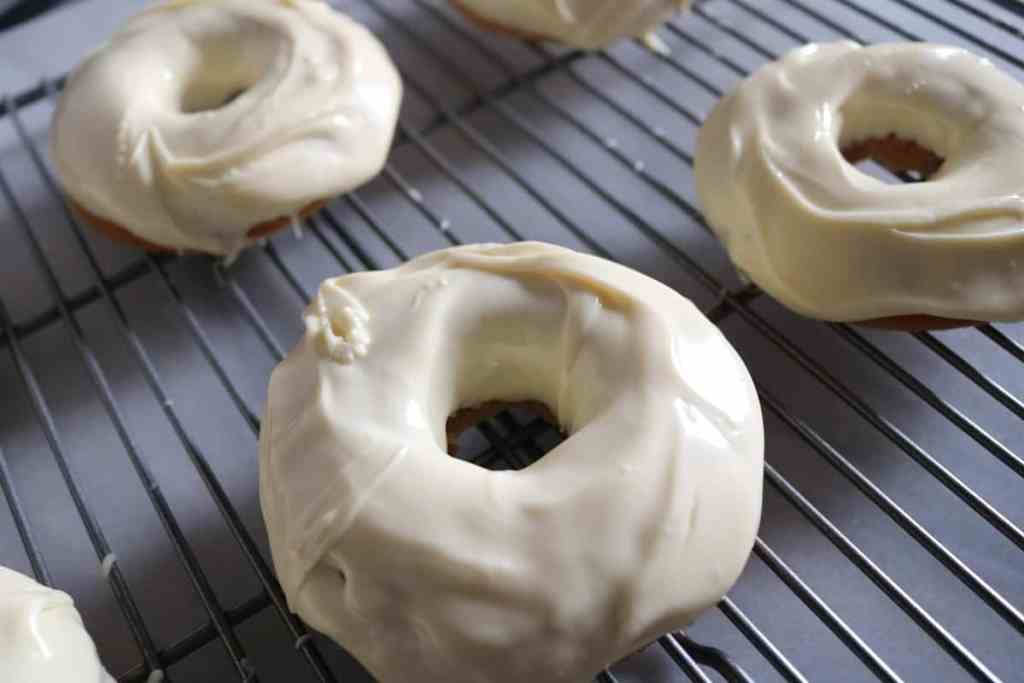 Vegan Vanilla Unicorn-inspired Doughnuts