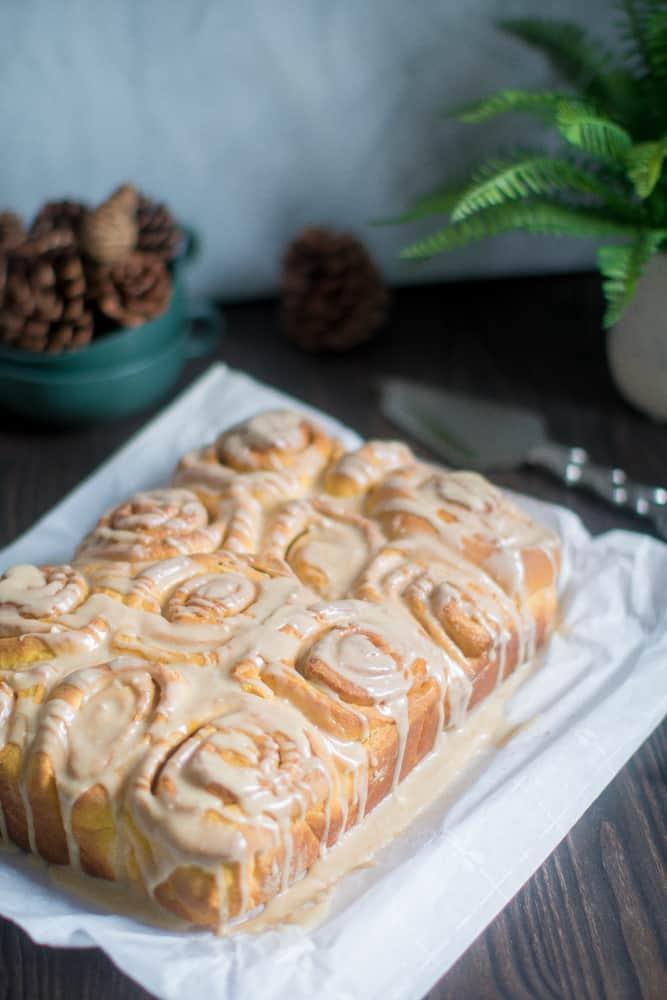 Best Vegan Pumpkin Cinnamon Rolls