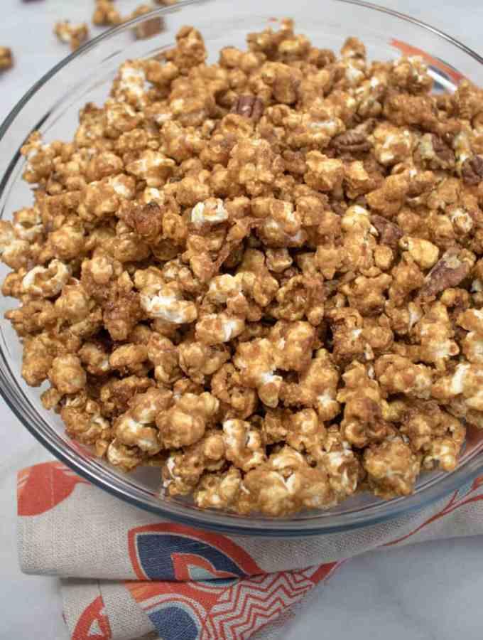 3 Ingredient Salted Caramel Popcorn Mix