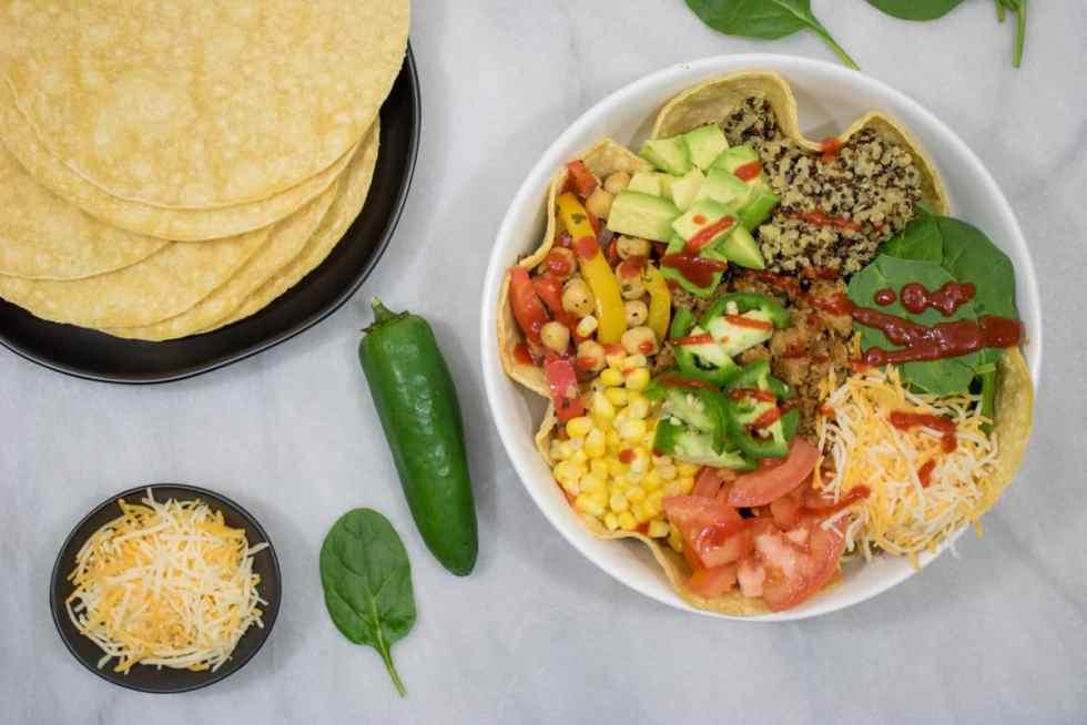 Loaded Turkey + Veggie Burrito Bowls