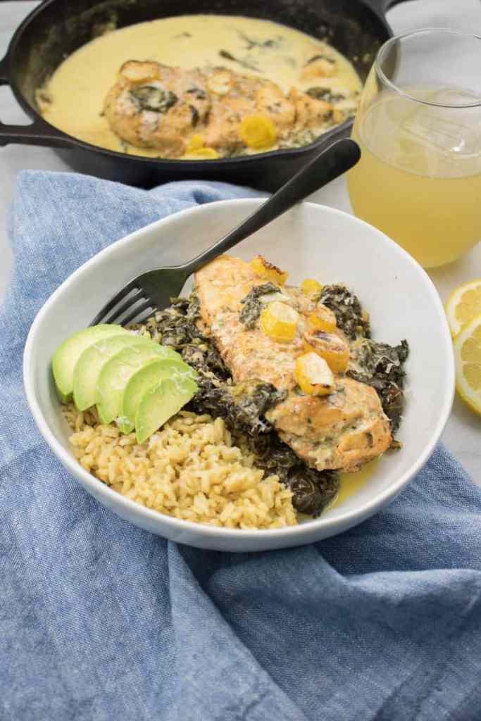 Creamy Lemon + Herb Parmesan Chicken