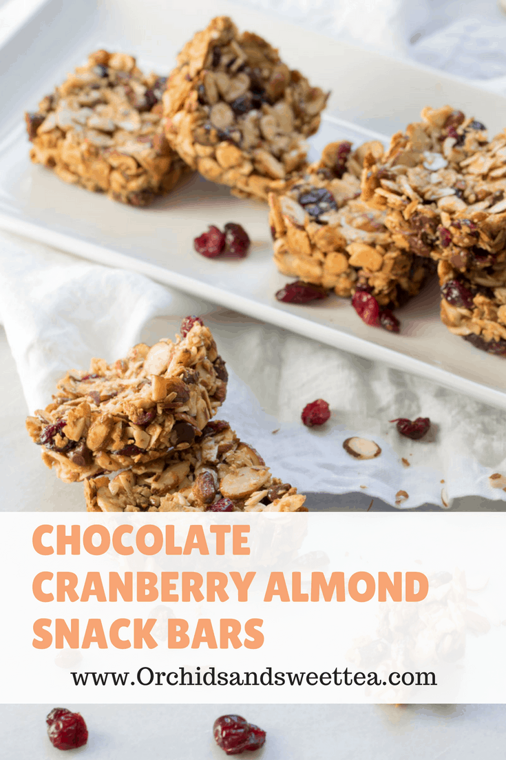 Chocolate Cranberry Almond Snack Bars