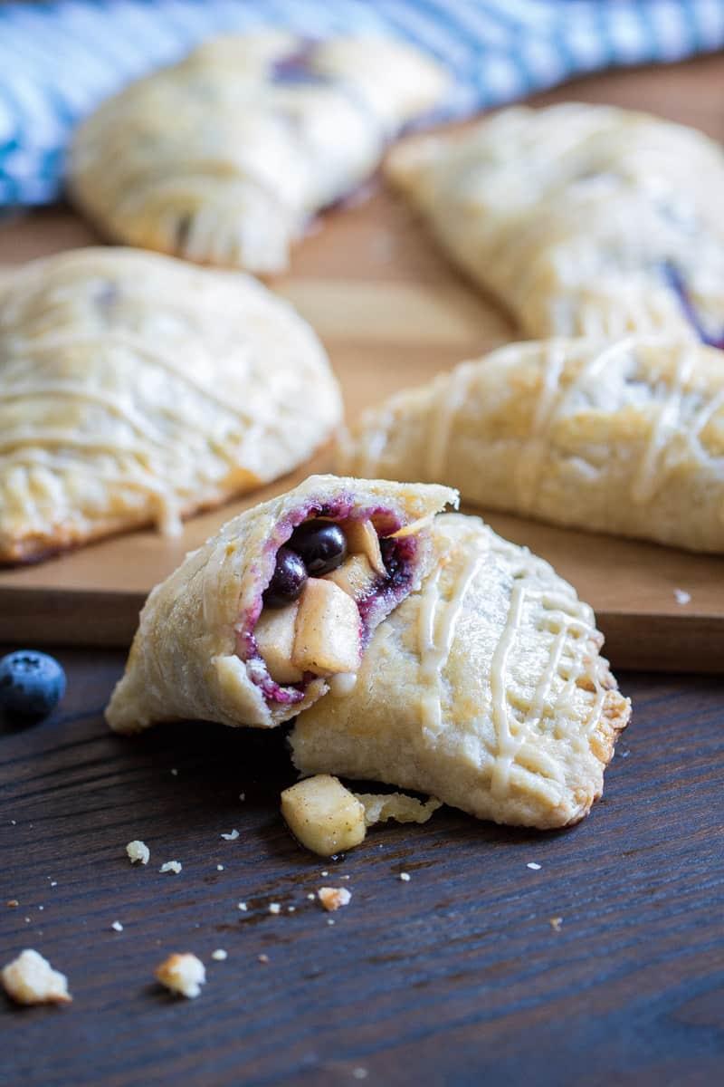 Apple Blueberry Hand Pies + Maple-Brown Sugar Glaze