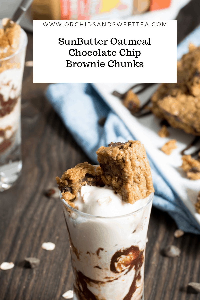 SunButter Oatmeal Chocolate Chip Brownie Chunks