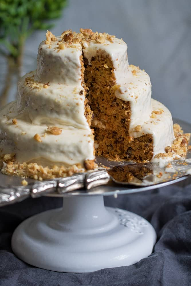 Vegan Carrot Cake + Orange-infused Frosting