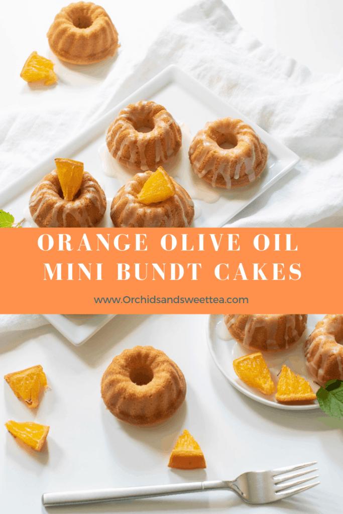 Orange Olive Oil Mini Bundt Cakes