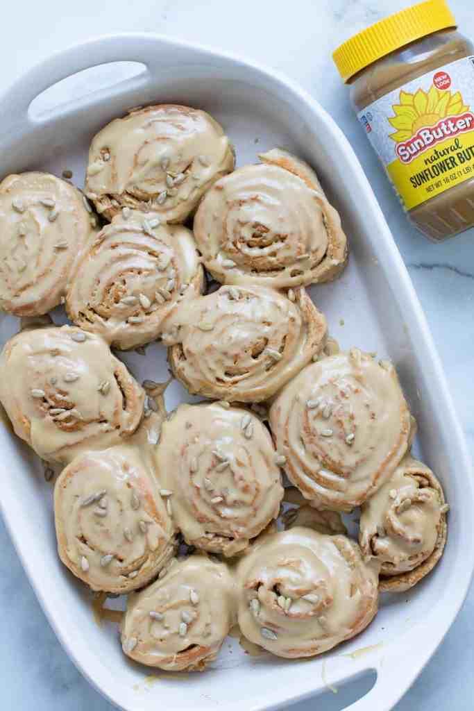 Delicious Vegan Sunflower Butter Cinnamon Rolls