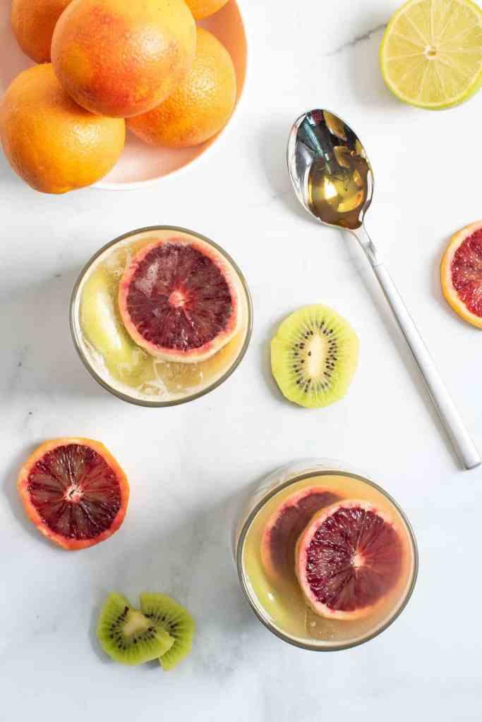Healthy Blood Orange Kiwi Drink
