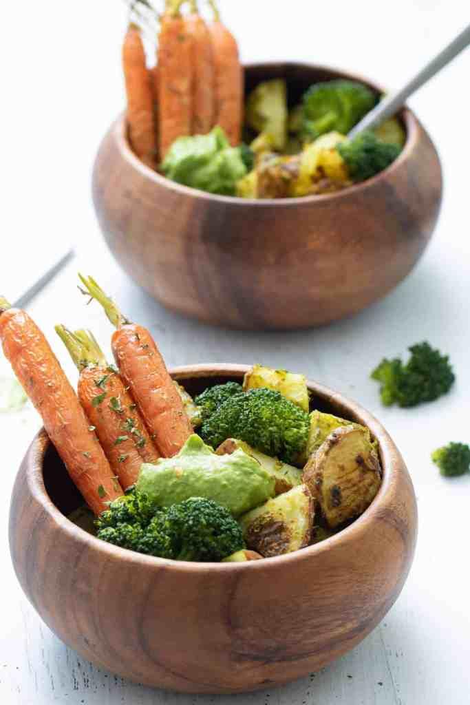 Healthy Pesto Veggie Bowl