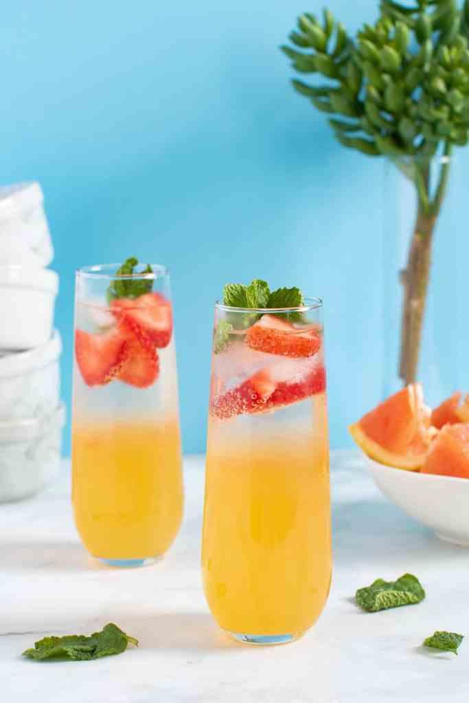 Strawberry Grapefruit Mint Spring Sodas