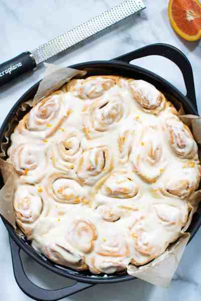 Fluffy Homemade Orange Cinnamon Rolls