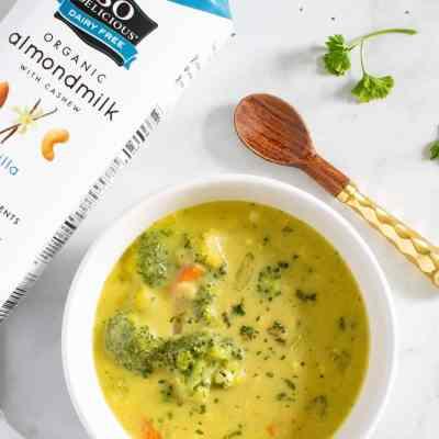 Loaded Dairy-Free Broccoli Cheddar Soup