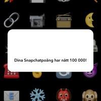 Snapchat-poäng.