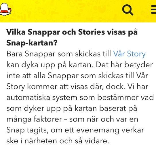 Snapchat vår story.