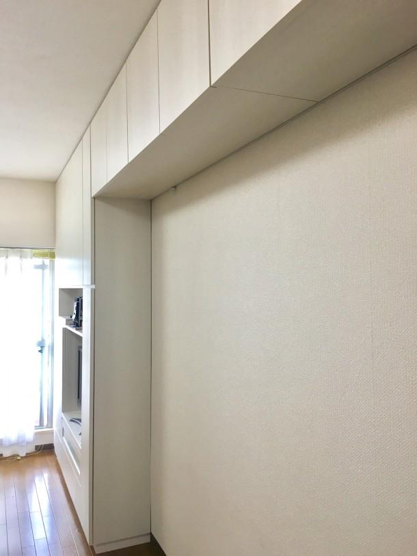 オーダー壁面収納家具と吊戸棚