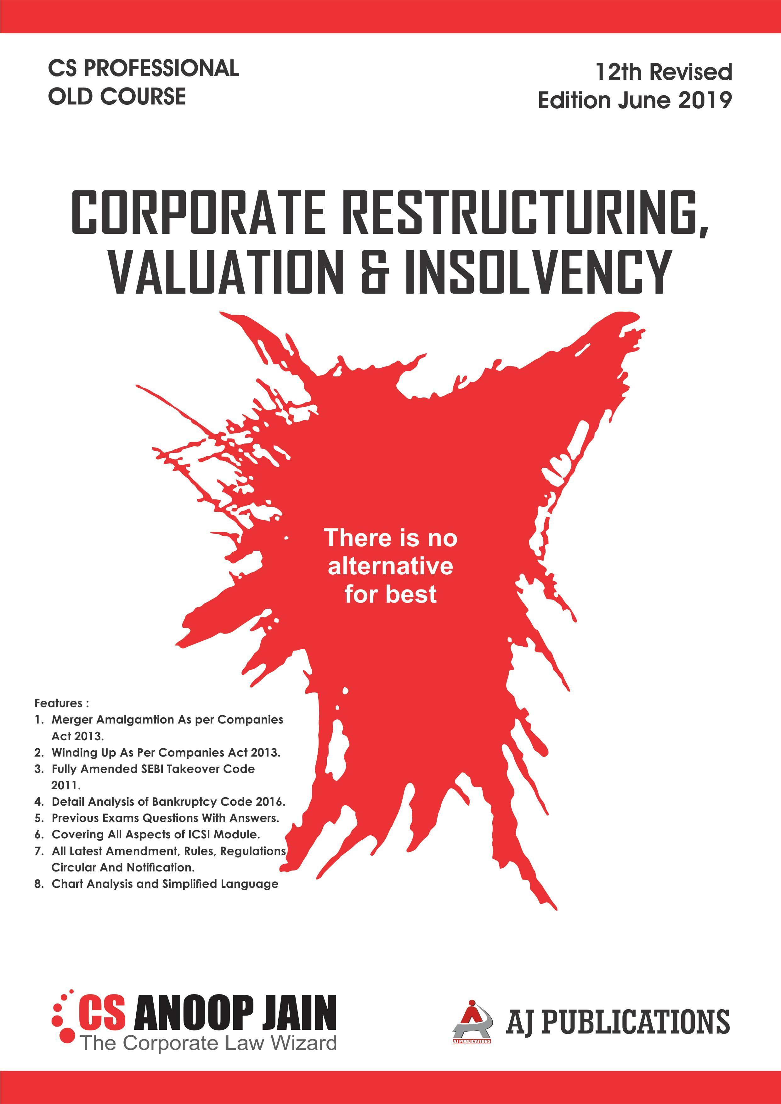 Corporate Restructuring Valuation And Insolvency Orderyourbooks